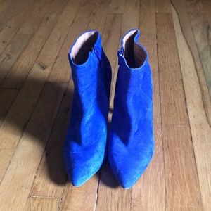Aldo really blue royal blue suede heel boots
